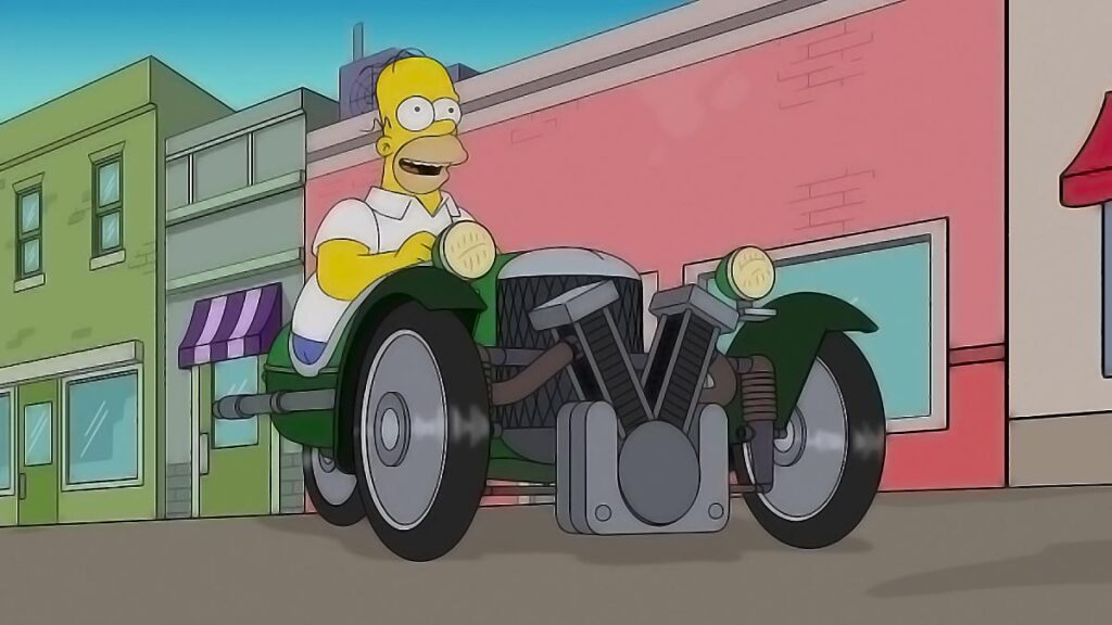 Morgan Three Wheeler en Los Simpsons