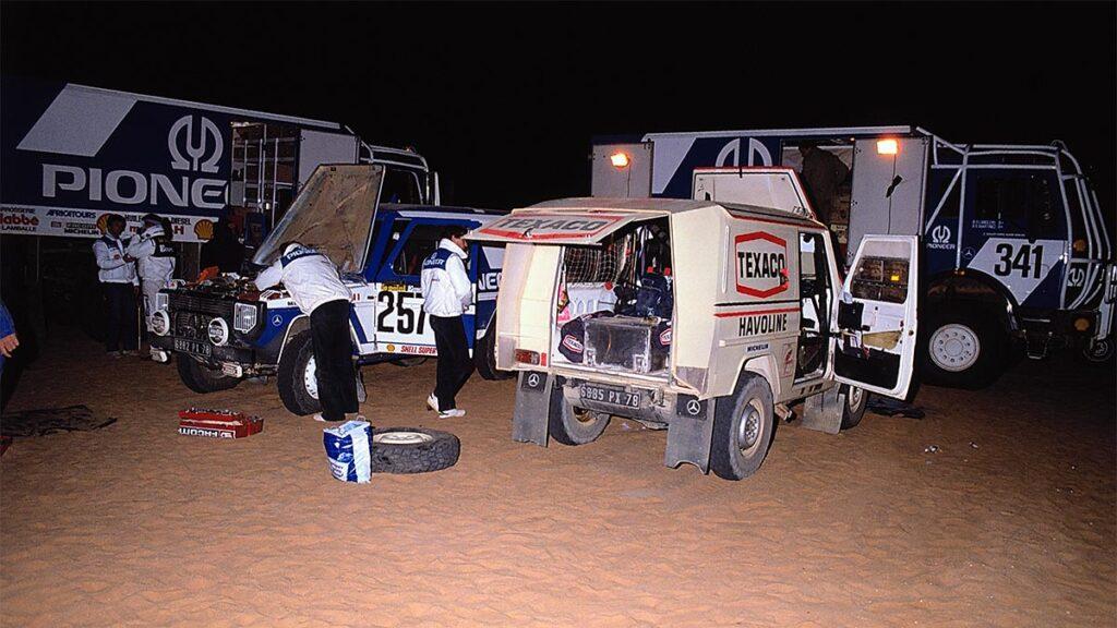 El Mercedes 280 GE con el que Jacky Ickx ganó el Dakar en 1983