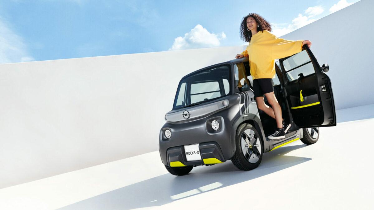 Opel Rocks-e: la firma del rayo imprime su sello sobre la base del Citroën Ami