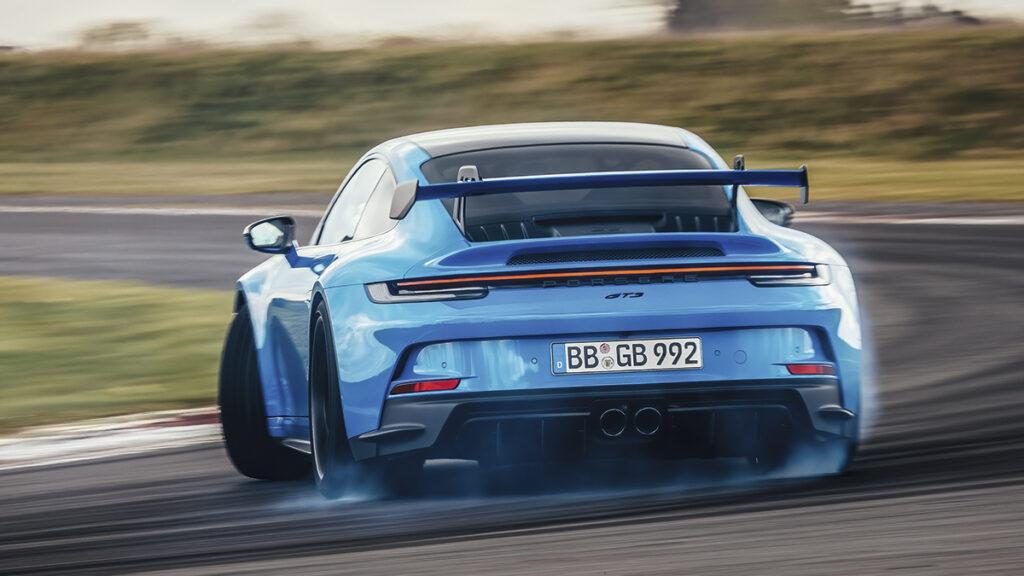 Porsche 911 GT3 derrapando