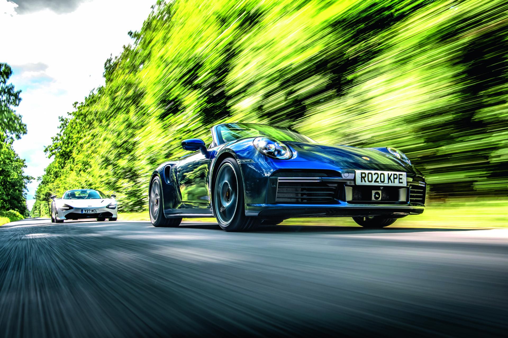 Comparativa: McLaren 720S Spider frente a Porsche 911 Turbo S Cabrio