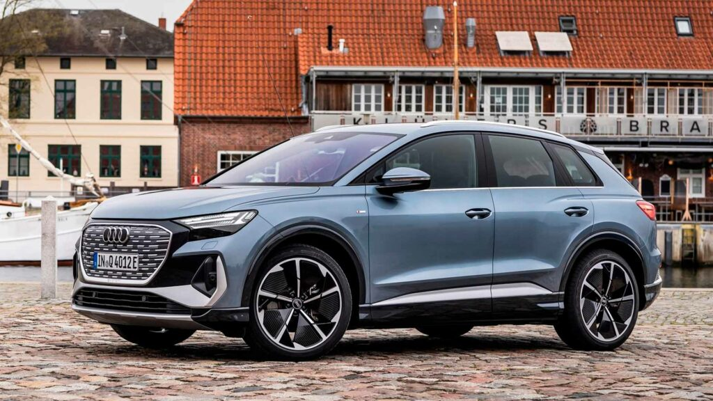 Audi Q4 e tron 2022 frontal