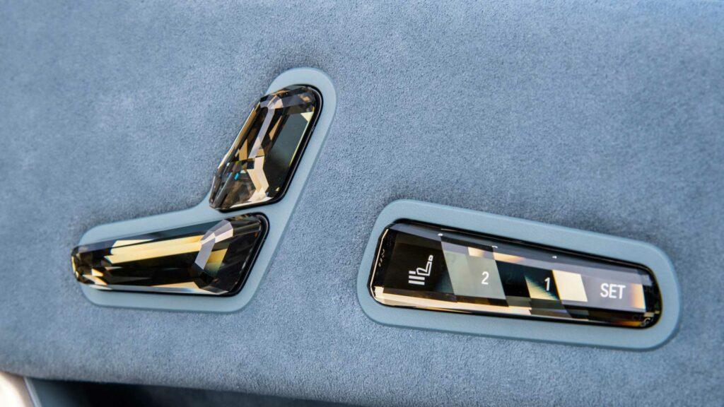BMW iX mandos asiento