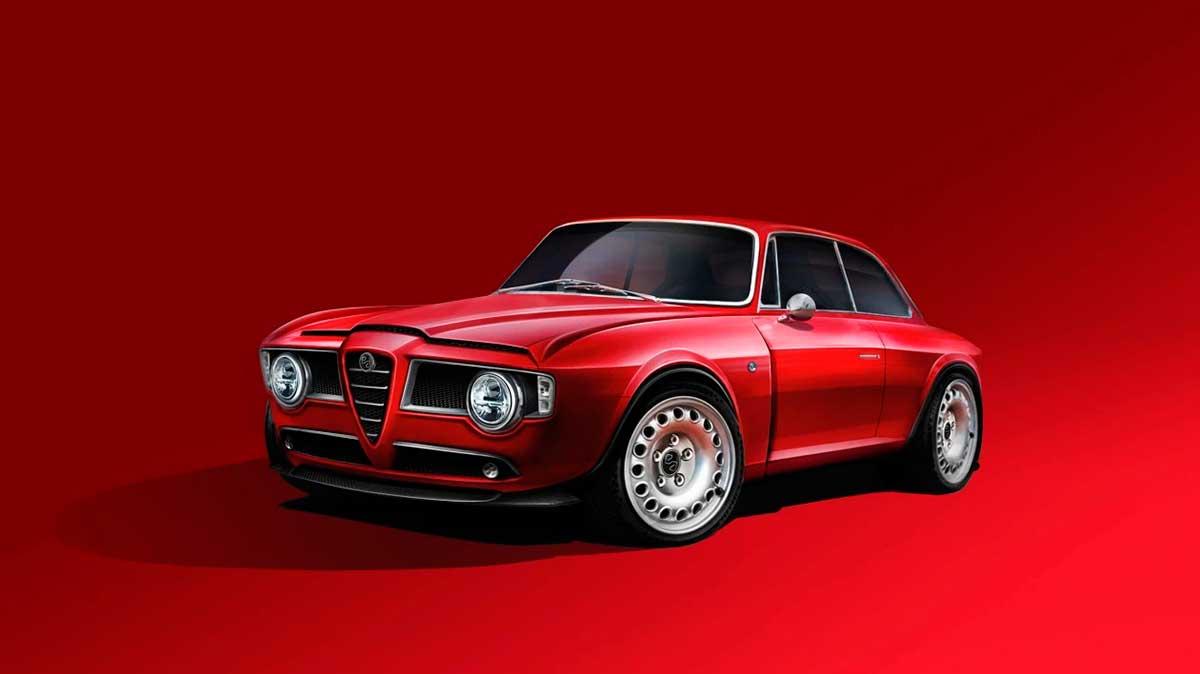 Emilia GT Veloce: un restomod del Giulia GT con el motor del Giulia actual