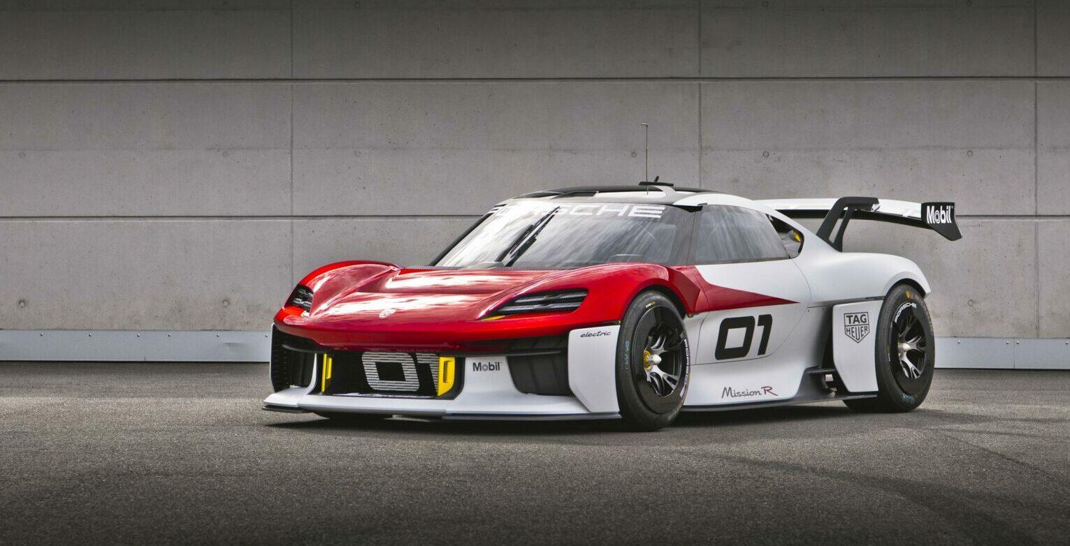 Nuevo Porsche Mission R: más de 1.000 CV de potencia para el futuro coche eléctrico de carreras de la firma de Stuttgart