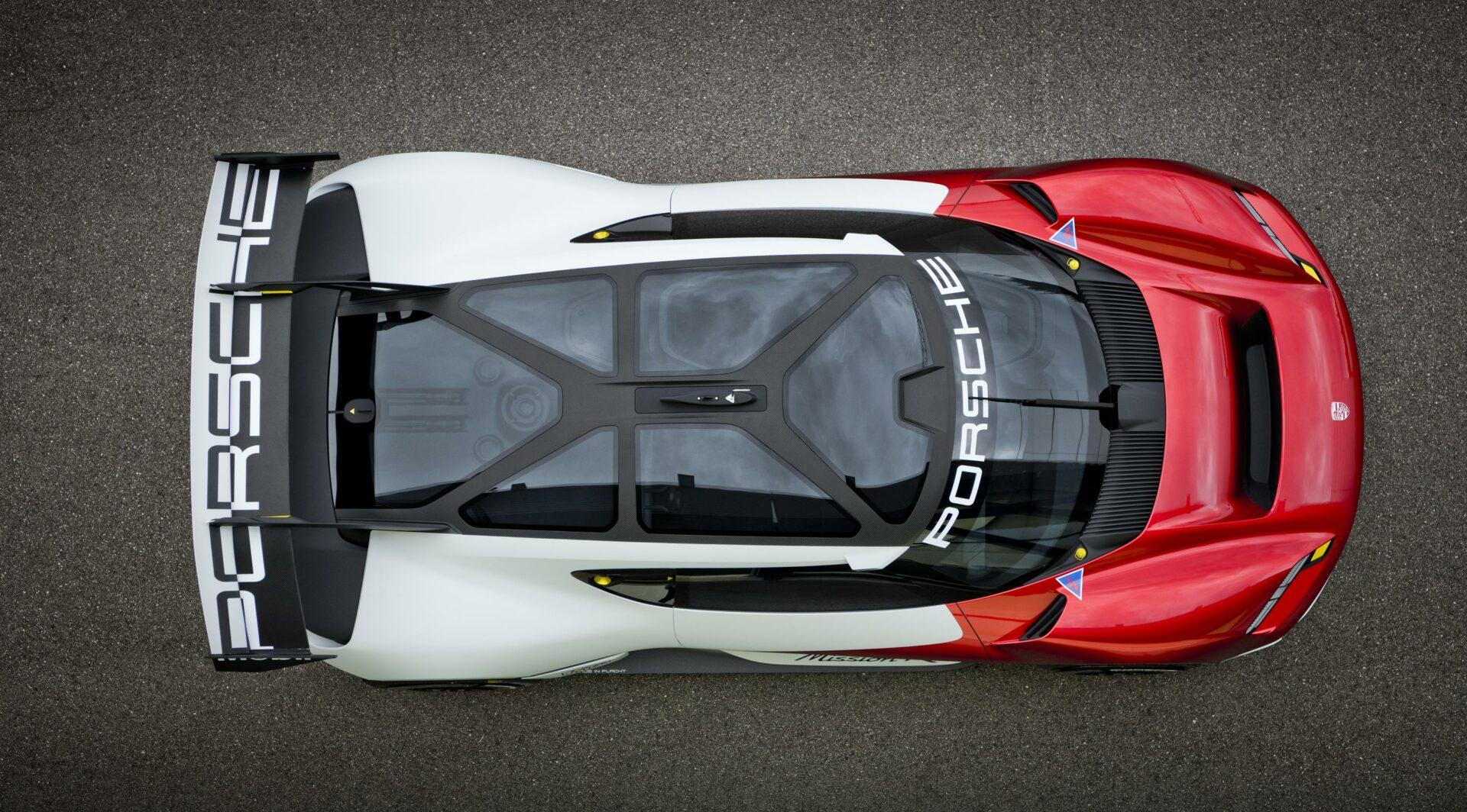 Porsche Mission R vista superior