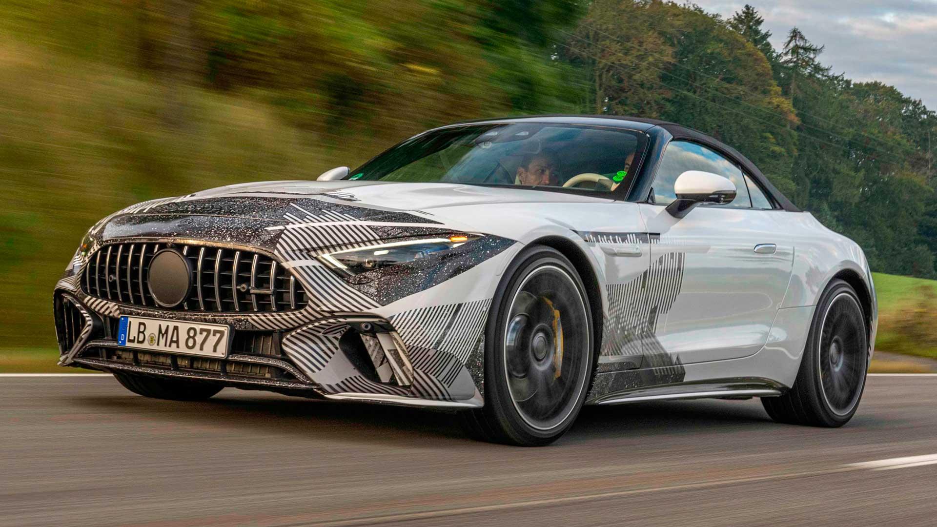 Nuevo Mercedes-Benz SL 2021: un prototipo revela más detalles acerca de su diseño