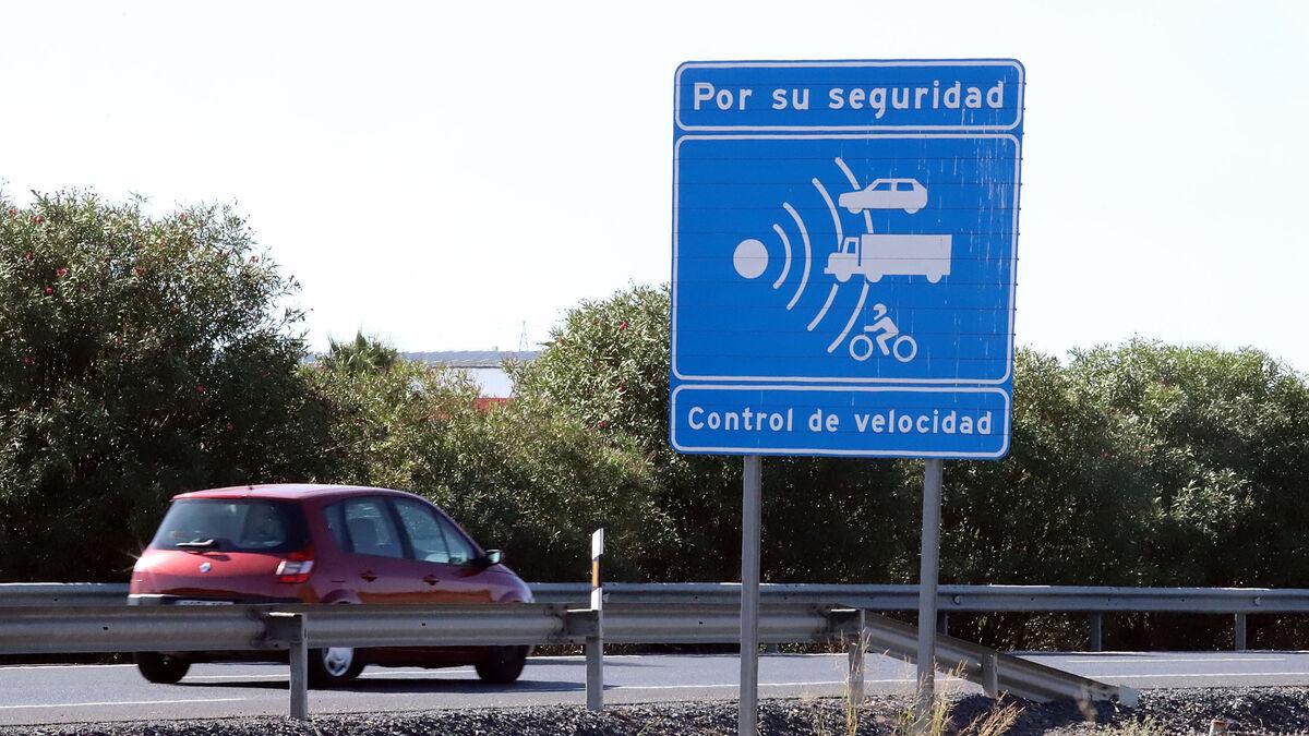 señal radar de velocidad