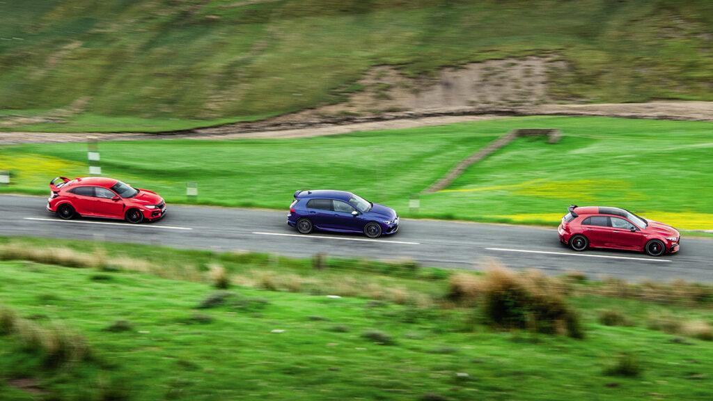 Honda Civic, VW Golf, Mercedes A45