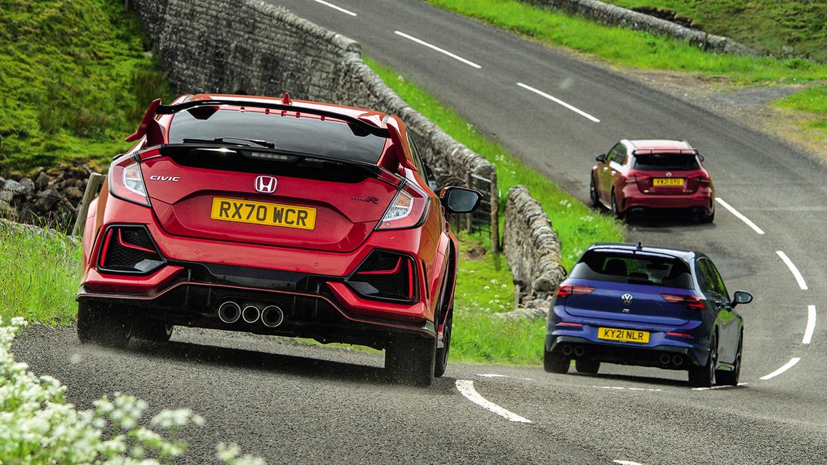 Honda Civic TypeR vs. Mercedes-AMG A 45S vs. Volkswagen GolfR: ¿cuál es el mejor compacto deportivo?