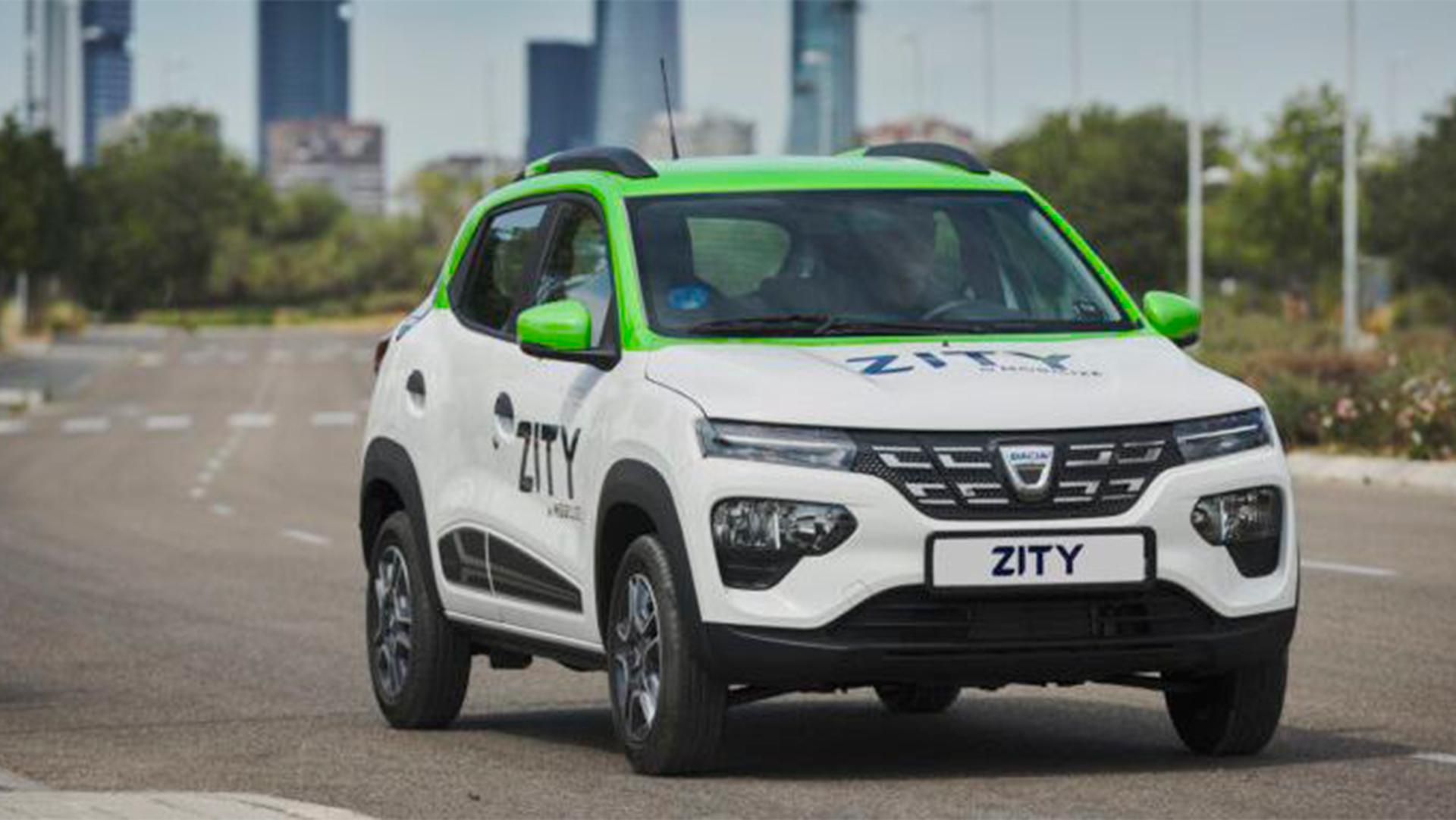 La empresa de carsharing Zity incorpora 250 Dacia Spring a su flota de vehículos en Madrid