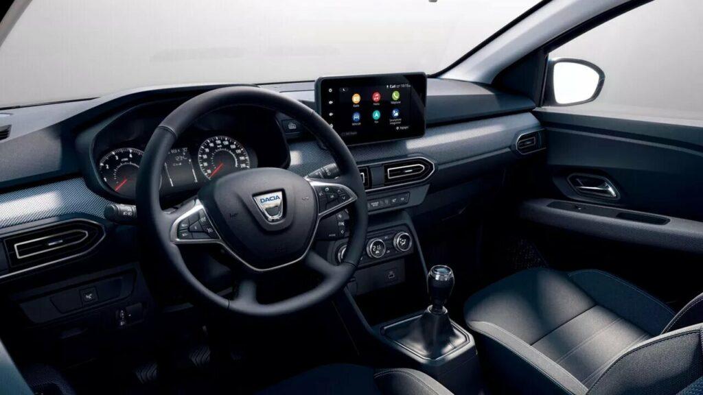 Interior del Dacia Sandero fiésel