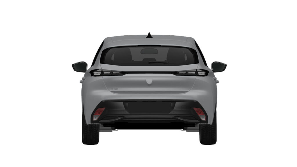 Peugeot 308 2022 trasera