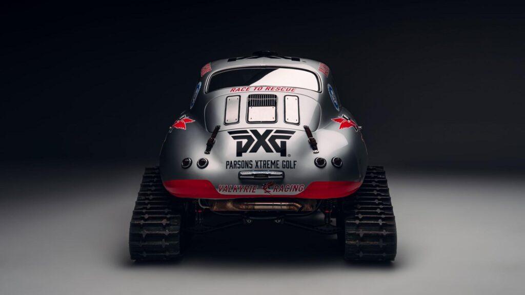 Porsche 356 con orugas