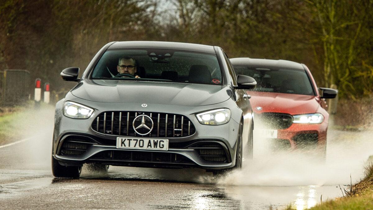 bmw M5 vs Mercedes AMg e63 1 3