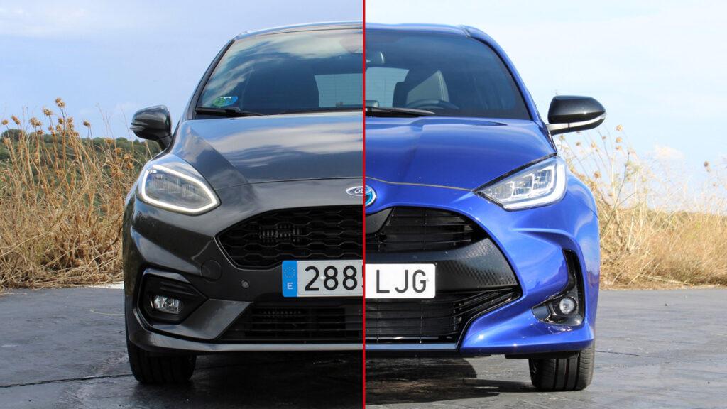 Ford Fiesta y Toyota yaris con etiqueta ECO