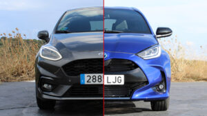 Comparativa Ford Fiesta 1.0 Ecoboost 125 MHEV vs. Toyota Yaris 120H